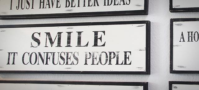 Statement-Schilder für ein kreatives Zuhause